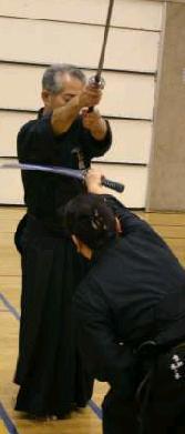 Matsuoka sensei and Kinomoto sensei demonstrate Hikimi