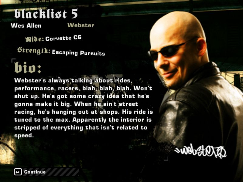 Need for speed most wanted blacklist members
