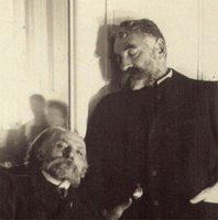 Renoir y Mallarmé fotografiados por Degas