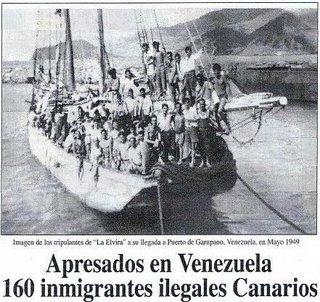 Apresados en Venezuela 160 inmigrantes ilegales canarios