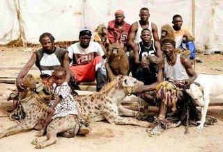 Familia de domadores de hienas