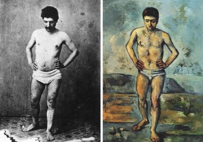 Baista, de Paul Cezanne