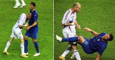 Momento en que Zidane se despide del fútbol como un auténtico cabestro