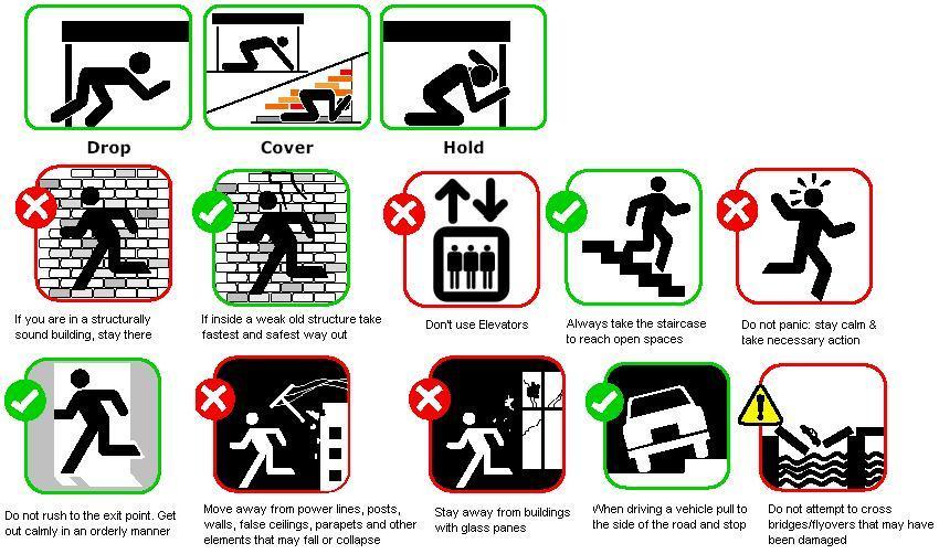 Earthquake survival guide