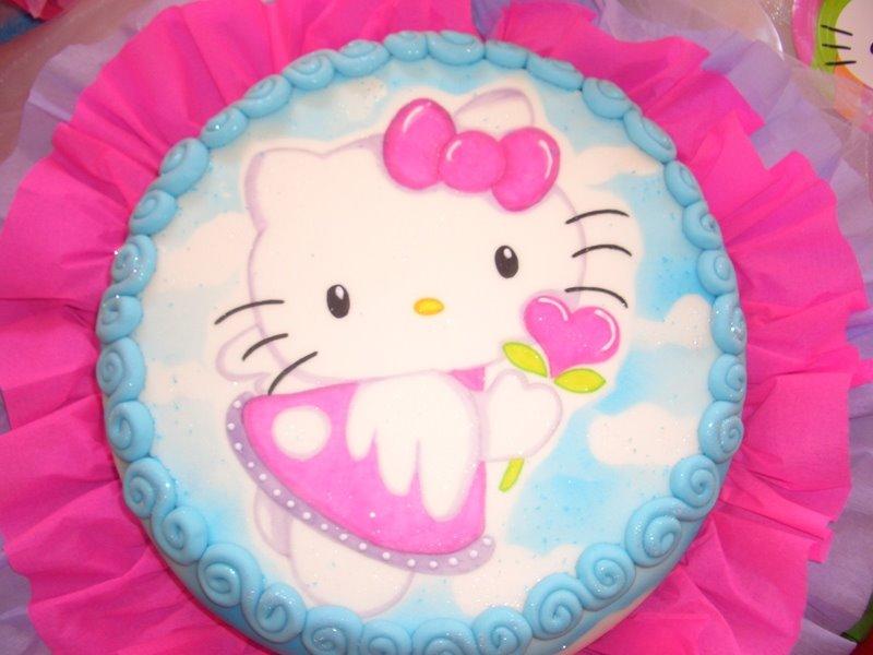 Kitty Decoracion De Tortas ~ Ponquetas Dise?o y Decoraci?n de Tortas Torta Hello Kitty Angel