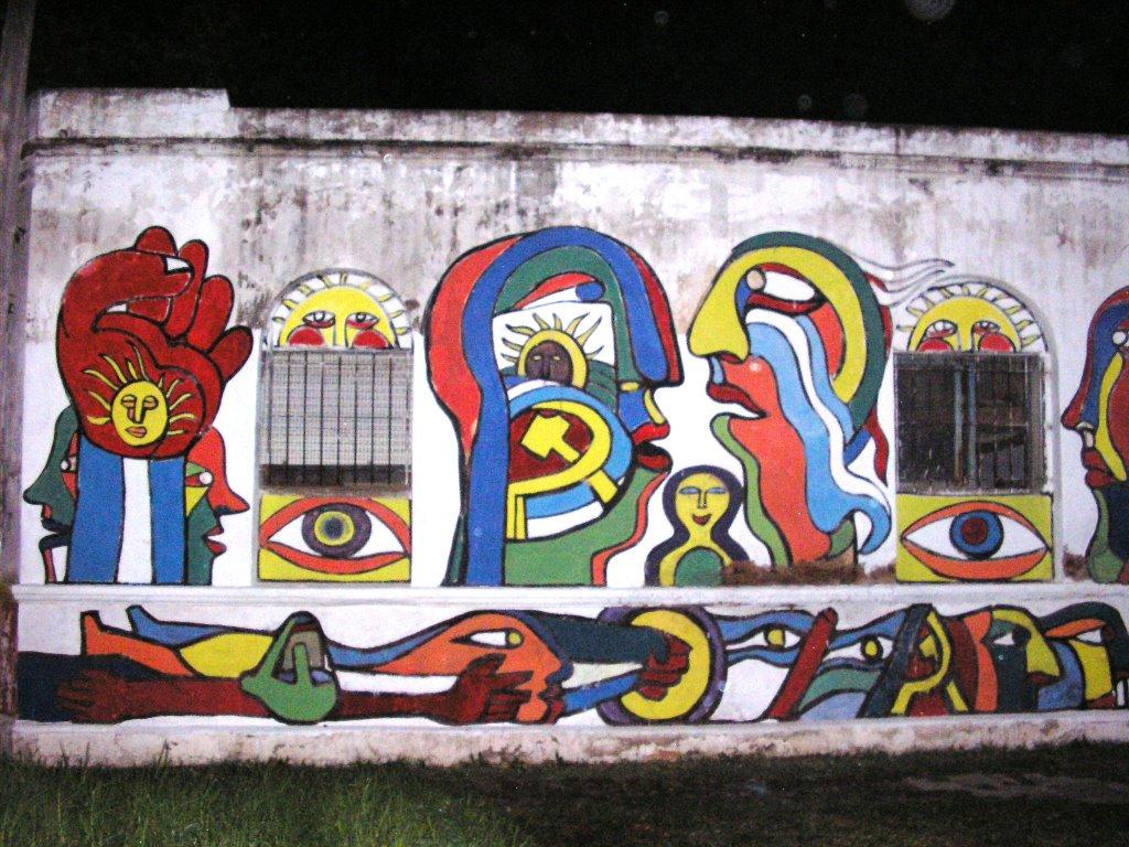 El arte brigadista abril 2006 for Mural metro u de chile