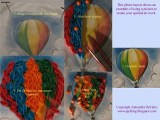 free quilling pattern Hot Air Balloon Quilled Fill-in Project