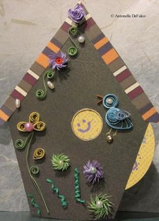 Quilling Quilled Birdhouse