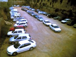 aparcament a l'antic fossat