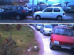 exemples d'aparcaments quodidians al voltant de l'Hospital Verge de la Cinta de Tortosa