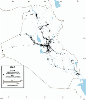 Death incidents in Iraq as reported by the media