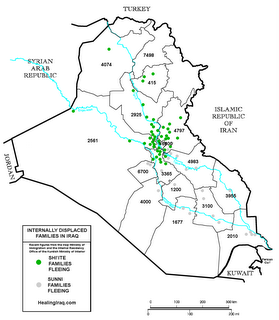 Internally displace families in Iraq, October 2006.