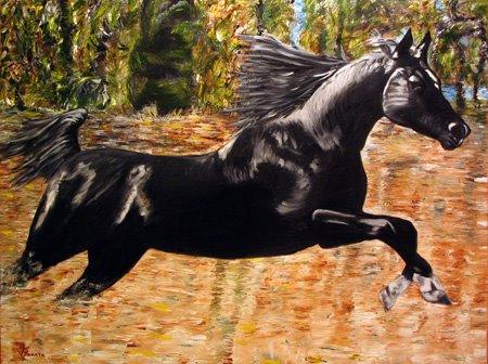 Cavalo em Corrida