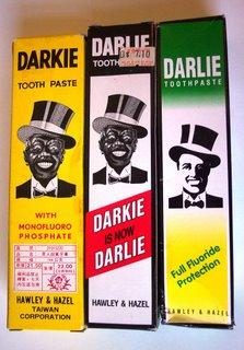 黑人牙膏 - Black Man Tooth Paste - Darlie, wcześniej Darkie
