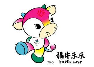 Fu Niu Lele - Lucky Cow Happy Happy - Maskotka paraolimpiady - Szczęśliwa Krówka Radostka