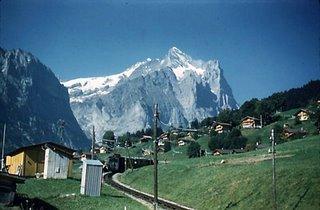 Train line up the Jungfrau