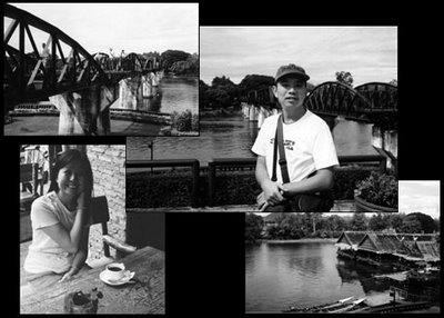 River Kwai BW photos