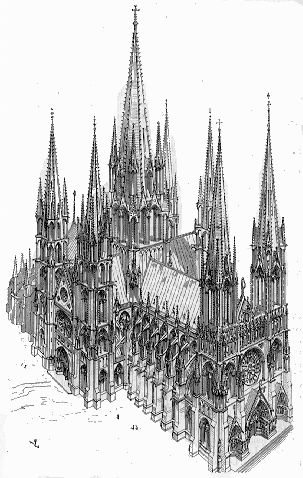 gothic not ideal form in the Gothic architecture developed in the mid-12th century france from where it spread to other parts of western europe and became the predominant architectural style by.