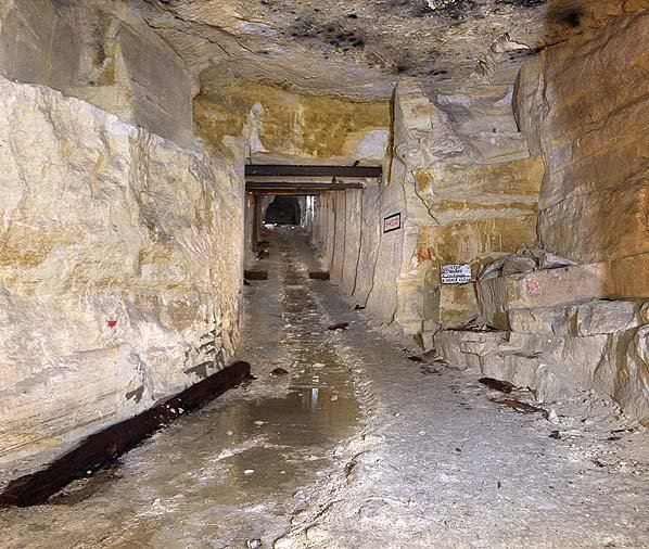 With 60 miles of tunnels, located 120 feet underground, the whole ...