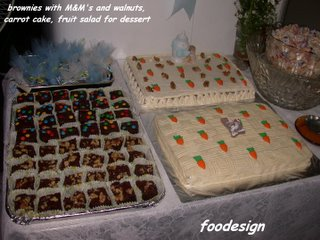 foodesign baptism party food
