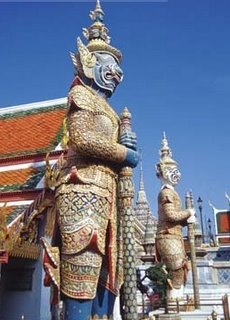 Guardian Statue at the Emerald Buddha Temple in Bangkok