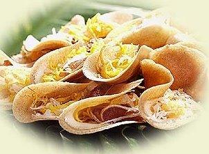Khanom bueng is a Thai dessert and Vegetarian Foods