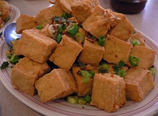Vegetarian Fried Tofu with Garlic and Black Pepper
