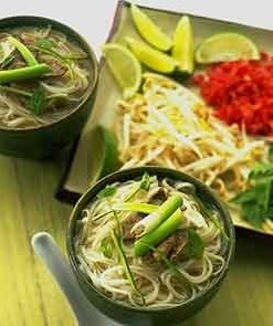 Vegetarian Pho Bo is Vietnamese Noodle Soup