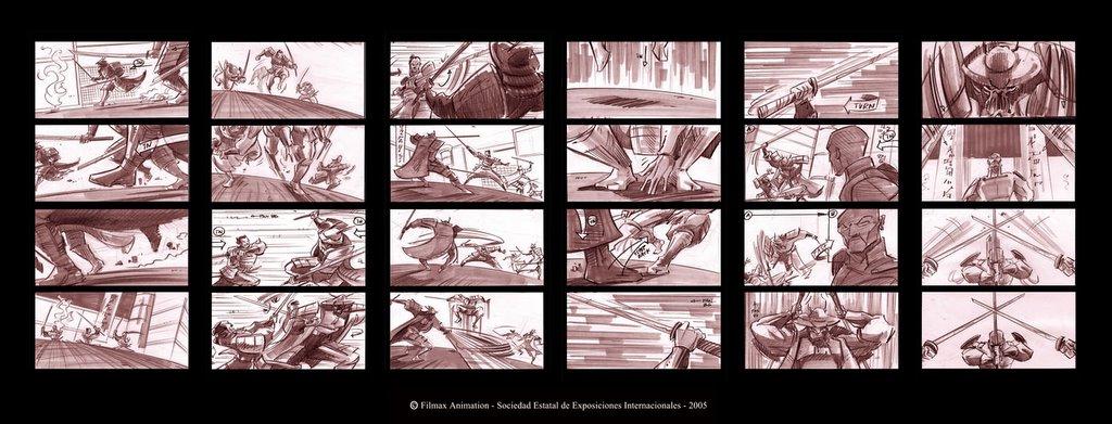 Gisaku-Storyboard Antonio Santamaría
