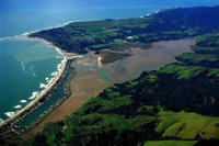 Aerial photograph of Bolinas Lagoon- Courtesy of US Army Corp of Engineer