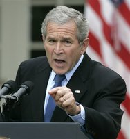 bush keeps revising war justification