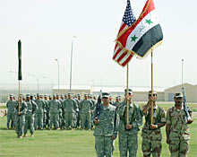 US army troop build up on iraq-iran borders