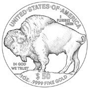 New USA Buffalo 24-Karat Gold Coin