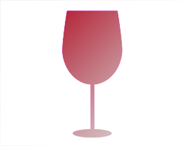 Glass Shape 1 for high tannin and moderate acidic wines