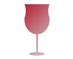 Glass Shape 2 for wines high on acidity, and moderate tannin
