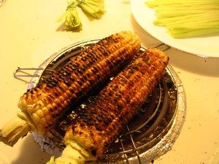 Roasted Corn on the Burner