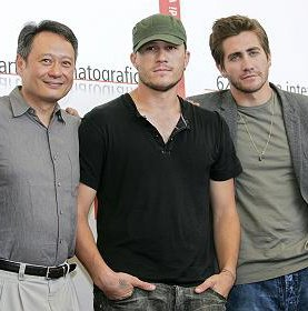 Ang Lee, Heath Ledger and Jake Gyllenhaal