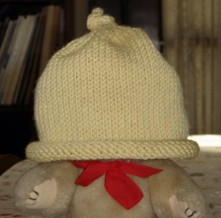 baby hat on a bear