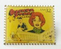 Este, da jornalista Brenda Starr, eu comprei no Museu de Boca Raton, na Flórida. É uma série (olhe mais dois abaixo) que metalizou selos feitos em homenagem a clássicos das HQs