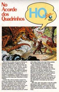 Primeira página de minha matéria de estréia, publicada em Fantasma # 7 e Sandman # 7, da Globo