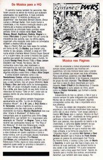 Segunda página de minha matéria de estréia, publicada em Fantasma # 7 e Sandman # 7, da Globo