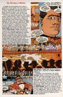 Terceira página de minha matéria de estréia, publicada em Fantasma # 7 e Sandman # 7, da Globo