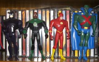 Pantera, Lanterna Verde, Flash e Caçador de Marte