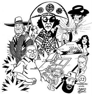 Arte de J.J. Marreiro para minha coluna na Wizard # 35
