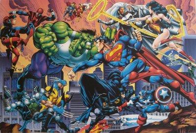 O pau quebrou entre heróis da Marvel e da DC! Só que a HQ era ruim à beça.