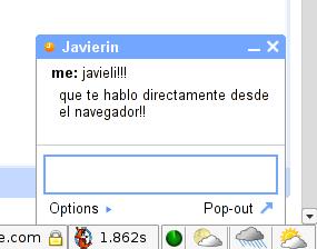 Gmail + gtalk: conversación