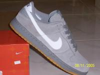 Grey Suede Nike Dunks