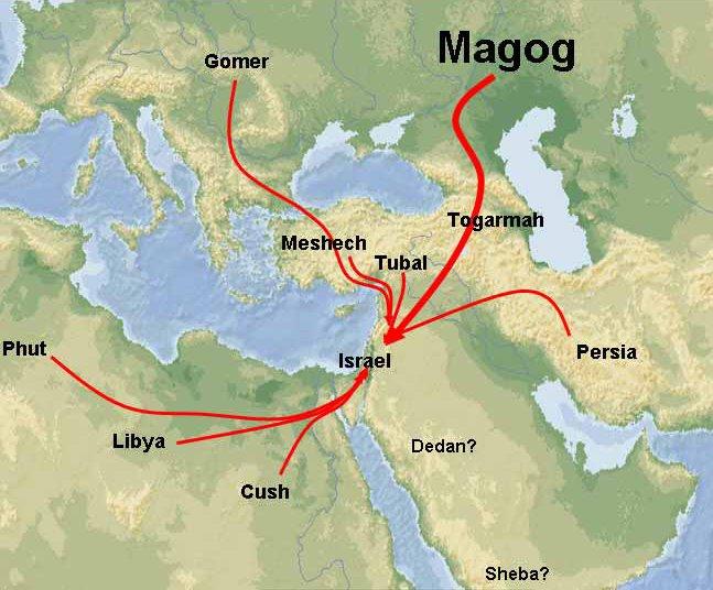 Image result for ezekiel 38 invasion route