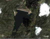 Bang Wad Reservoir and Dam as seen on Google Earth