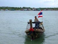 Longtail Boat approaching Laem Hin